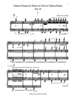 Twelve Pieces for Piano on One to Twelve Notes Vol. III